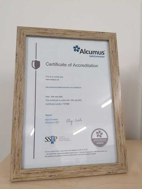 Fleet Assess announce the recent renewal of their Alcumus Safe Contractor accreditation